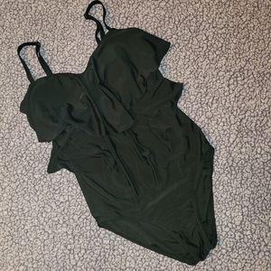 Simon Chang Ruffled Swimsuit
